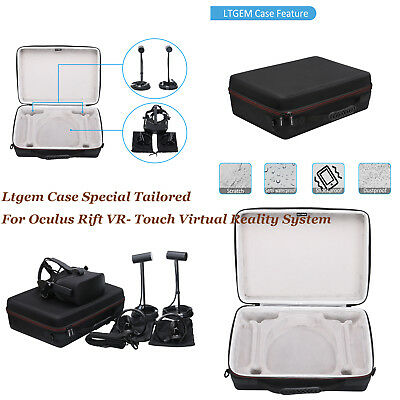 LTGEM Hard Carrying Case Bag for Oculus Rift VR- Touch Virtual Reality System