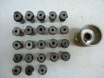 """23 Slip Fit Numbers 1/2"""" OD Drill Bushings 1/2"""" OD Bushing Drill Cup"""