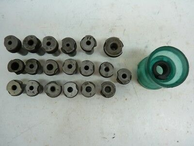 """19 Slip Fit Number Letters 1/2"""" & 3/4"""" OD Drill Bushings and Drill Cup"""