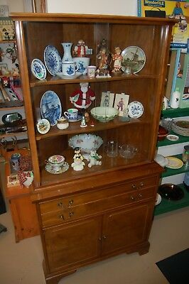 Brickwede Hard Rock Maple Solid Wood Corner China Curio Cabinet  from Estate