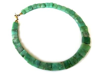 Natural Chrysoprase Layout Bib Collar Necklace 10x9mm To 17x15mm 18 Inch GDS987