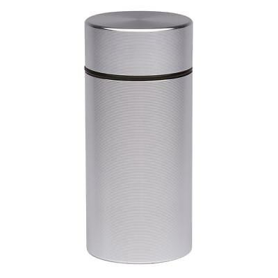 Stash Jar Airtight Smell Proof Durable Portable Metal Herb Jar Container Silver