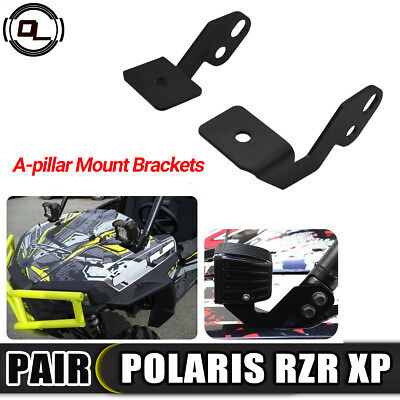 LED Pod Work Light Bracket Side A Pillar Roll Cage Mounting for POLARIS RZR XP