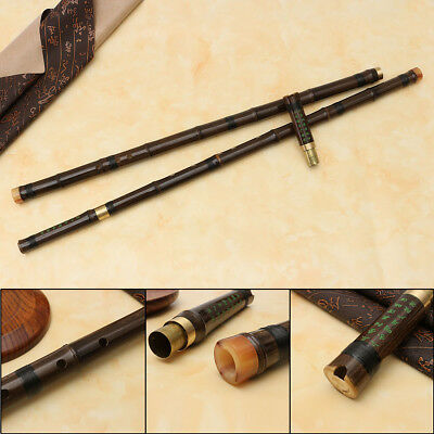 Bag+8 Hole G/F Key Chinese Instrument Bamboo 2Section Profession Flute Xiao Gift