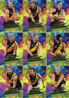 2017 afl select FOOTY STARS RICHMOND TIGERS HOLO FOILS TEAM SET 9 CARDS