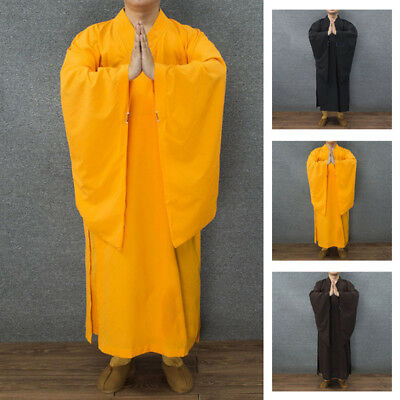 Monk Kung fu Uniform Shaolin Buddhist Robe Meditation Farming Tai chi Long Suit