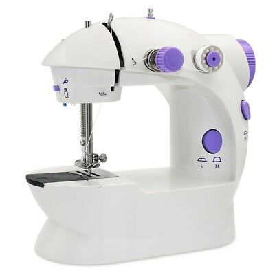 Mini Sewing Machine, AU Plug Portable Electric Sewing Machine with Lamp and V4Y4