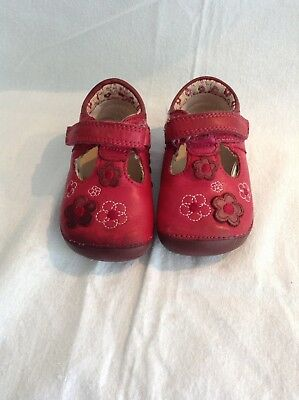 Beautiful Pink Girls Clarks First Shoes Size 2 1/2F