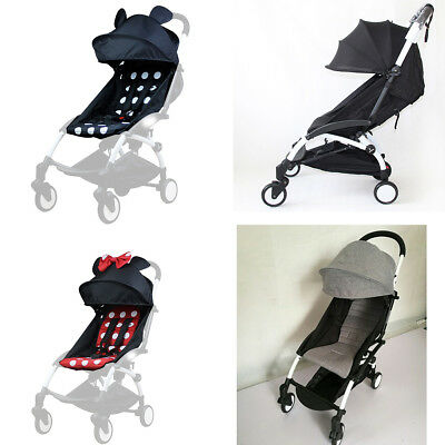 165°Sunshade Shed Cover Canopy + Seat Pad Mat For Baby YOYO Stroller Accessories