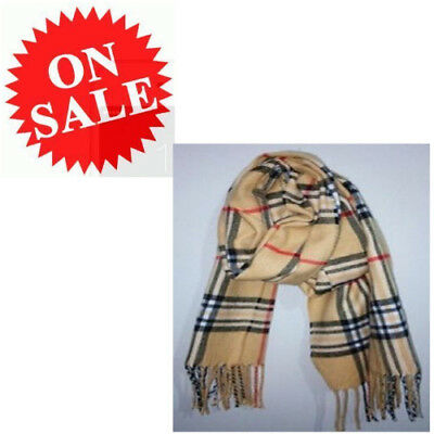 Neckerchief For Kids Boy Girl Classic Grid Plaid Wool Spinning Tassels Scarves
