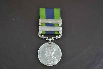India General Service Medal - 1908 - 1935 - 2 Clasps - 1-15th Punjab Rifles