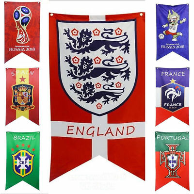 2018 Russian Football World Cup LARGE Flags Banner Soccer Team Bunting UK