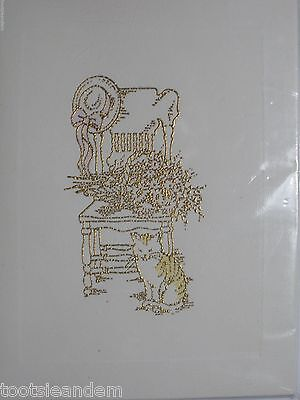 Cat with Chair Notecards by Evelyn Morton
