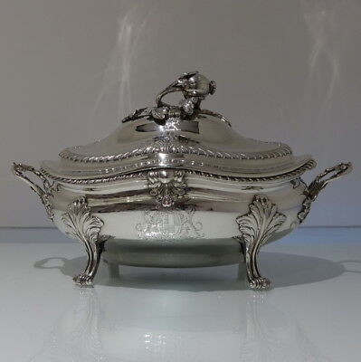 18th Century Antique George III Sterling Silver Soup Tureen London 1772