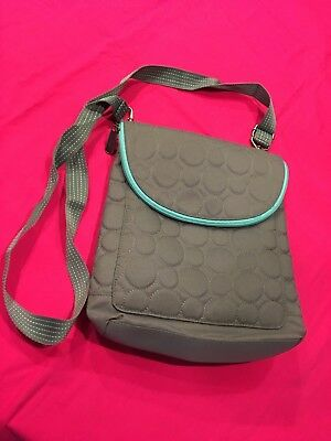 Thirty-One Vary Quilted Backpack Purse - Thirty One 31 - Gray & Teal & Grey