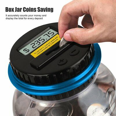 Digital Coins Saving Money Box Jar Electronic USD Counting Piggy Bank For Kids