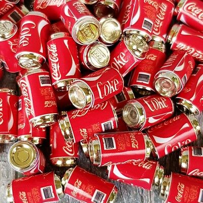 10x Dollhouse Miniatures COCA-COLA COKE Soda Can Beverage Drink Collectibles Lot