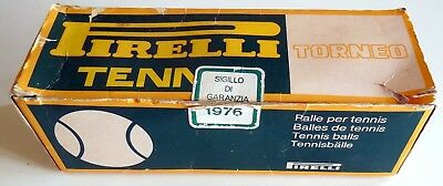 Vintage Pirelli Made In Italy Palle Balls Tennis  1976 Torneo Boxed