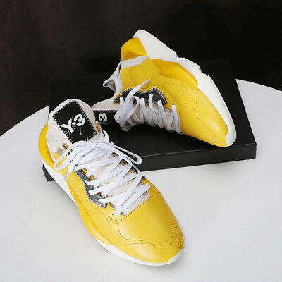 3e39b50fbacde 2018 Y3 Qasa High Yohji Yamamoto Light Weight Lace Up Men Yellow Trainers  Shoes