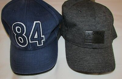 New 2 Pack Boys Caps Hats 6-10 Years Grey Blue Mix Marks & Spencer