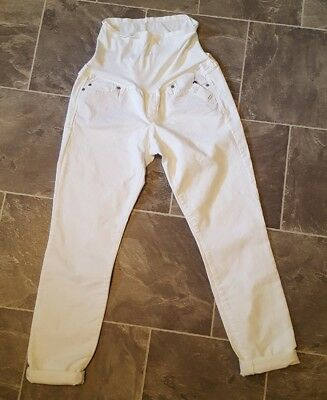 NEW Gap Maternity Size 6 28R White Authentic True Skinny Jeans