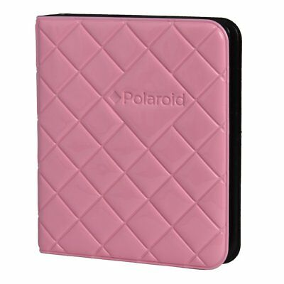 Polaroid 64-Pocket Photo Album w/ Sleek Quilted Cover for Zink 2x3 Pink
