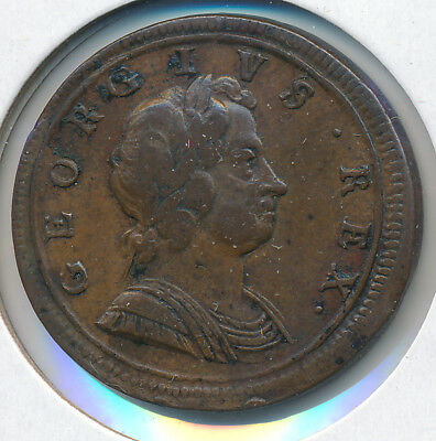 Great Britain Half Penny 1722 George I Km557 - Vf