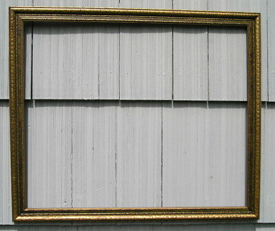 Antique Aged Art Crafts Patterned Picture Frame Old~Lovely 19 7/8 x 24