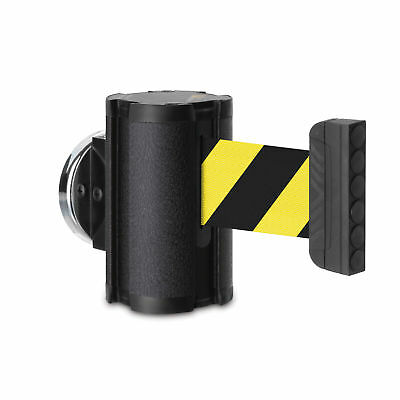 7' Magnetic Safety Barrier Black Finish w/Black& Yellow Belt  1 ea