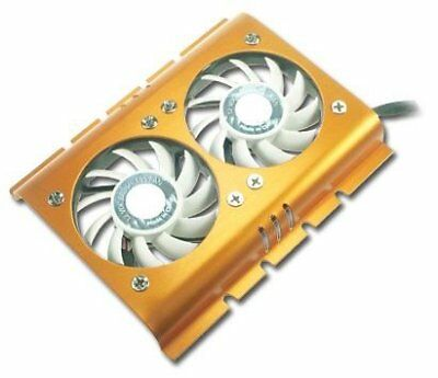 Connectland 1502036 Dual Fan Hard Disk Cooler for CPU