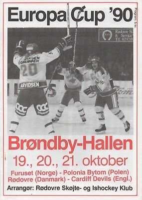 Oct 89 CARDIFF DEVILS Europa Cup 90 in Denmark