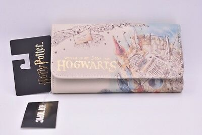 Harry Potter HOGWARTS WALLET FREE Shipping!! BIOWORLD HP Watercolor