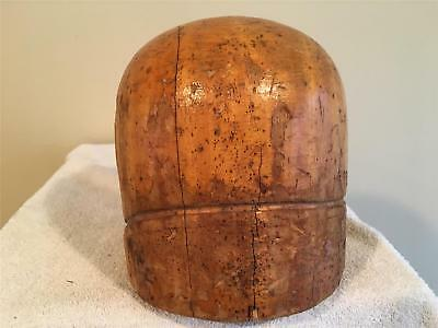 wooden round crown SIDE HELMET/MILLINERY WOOD BLOCK HAT MAKING /FORM/MOLD/BRIM