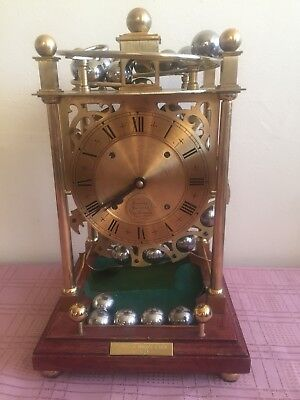 Vintage Thwaites And Reed Spherical Weight Rolling Ball Clock C.1980.