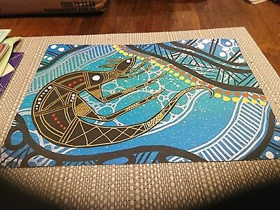 Original Boomanulla Williams 2013 Aboriginal Dot painting on canvas Reptile