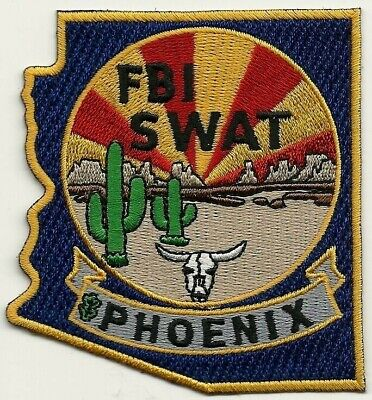 FBI: ARIZONA - PHOENIX  SWAT  S.W.A.T.  COLOR Police Patch SEK Polizei Aufnäher