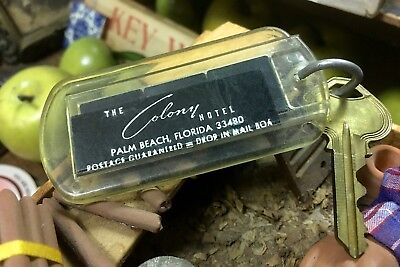 Colony Hotel, Vintage Key Fob Collectable, Palm Beach, Florida