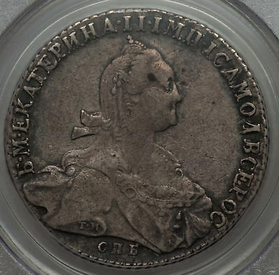 1775-SP FL Russia Rouble PCGS VF 35 C-67a.2 Catherine