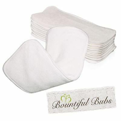 Bamboo Nappy Inserts, Boosters, x 10, 4 layers, 2 Bmb 2 Mf Bountiful Bubs