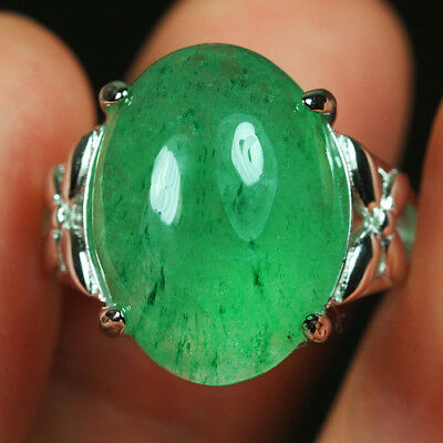 29.2CT 100%Natural 18K Gold Plated Green Strawberry Rutilated Quartz Ring UDIS82