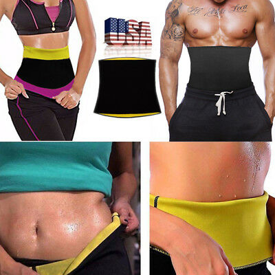 Waist Trimmer Belt Slimming Sweat Burn Fat Weight Loss Body Shaper For Men/Women