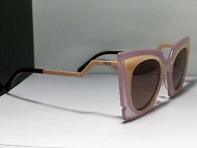 6f4a951a91 FENDI FF0117 S LAQUT Orchidea Pink Peach Cat-Eye 49mm Womens Sunglasses -   169.99