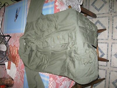 US Military Army Vietnam Era OD Slant Jungle BDU Fatigue Shirt OG107 Small ff2bb34849d