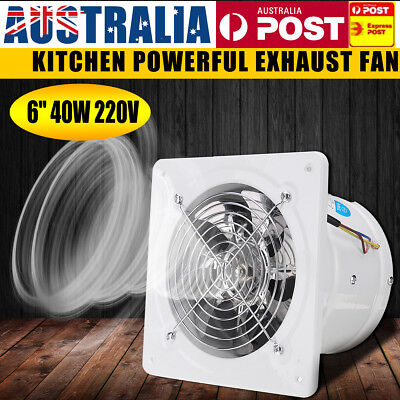 "6"" Entilation Extractor Exhaust Fan Blower Window Wall Kitchen Bathroom Toilet"