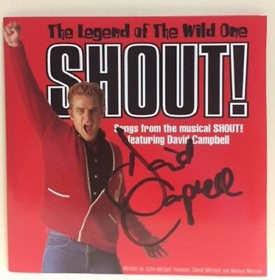 Shout! The Musical – Cd, Hand Signed / Autograph By David Campbell