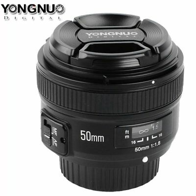 Yongnuo YN 50MM F1.8 Large Aperture AF/MF Manual Auto Focus Lens for Canon Nikon