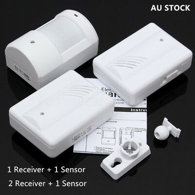 Wireless Yard Shop Home Entry Welcome Chime PIR MOTION Sensor Door Bell Alarm