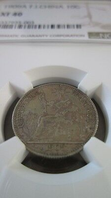 French Indochina 10 Cents 1909A NGC XF 40