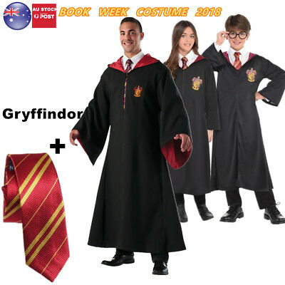 Book Week Harry Potter Cape Gryffindor Robe Hermione Granger Cloak With Tie