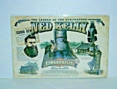 NKMS4 Collectible Ned Kelly Metal Sign 20 cm H x 30 cm W